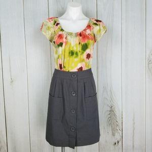 Anthropologie Tabitha Floral Silk & Cotton Dress